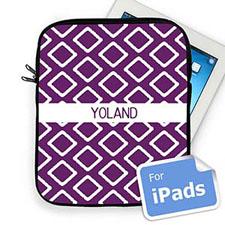 Custom Name Purple Lkat Ipad Sleeve