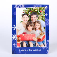 Custom Printed Glistening Snowflake Greeting Card