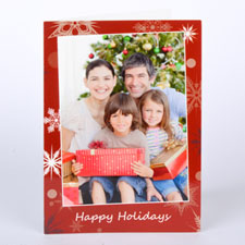 Custom Printed Sprinkled Snowflakes Greeting Card