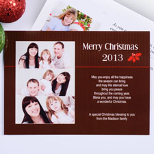 Create My Own Holly Spring Christmas Three Collage Invitation Cards