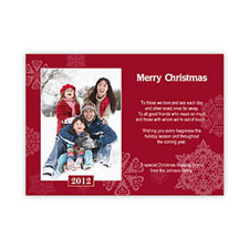 Create My Own Snowing Happiness Portrait Photo Invitation Cards