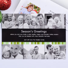 Create My Own Green Merry Miracle Six Collage Invitation Cards
