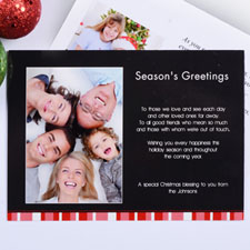 Create My Own Red Merry Miracle Portrait Photo Invitation Cards