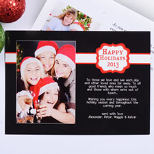 Create My Own Black Placed Moments Landscape Invitation Cards