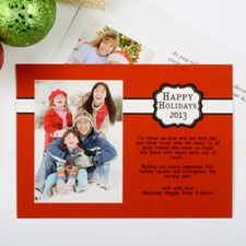 Create My Own Red Placed Moments Landscape Invitation Cards