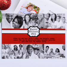 Create My Own Red Placed Moments Six Collage Invitation Cards
