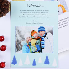 Create My Own Sweet Winter Portrait Invitation Cards