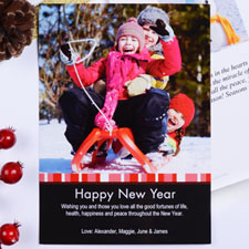 Create My Own Red Merry Miracle Portrait Invitation Cards
