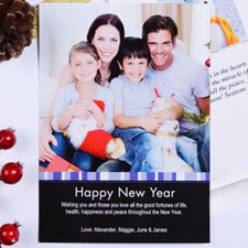 Create My Own Blue Merry Miracle Portrait Invitation Cards