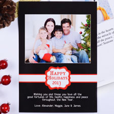 Create My Own Black Placed Moments Portrait Invitation Cards