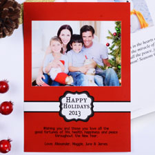 Create My Own Red Placed Moments Portrait Invitation Cards