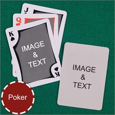 Personalized Poker Modern Custom 2 Side Playing Cards