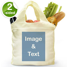 Customize 2 Sides Folded Shopper Bag, Portrait Image