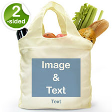 Custom 2 Sides Folded Shopper Bag, Landscape Image