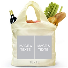 Personalized Both Sides 2 Collage Shopper Bag, Classic