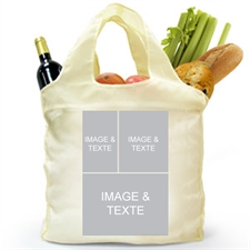 Customize 2 Sides 3 Collage Shopping Bag, Classic