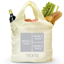 Custom Front And Back 3 Collage Folded Shopper Bag, Modern