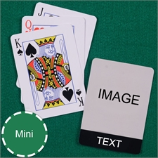 Mini Size Playing Cards Cool Black Standard Index