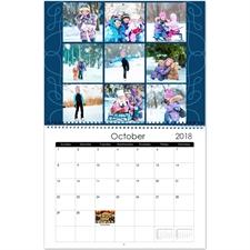 Personalized Simple Swirl, 11X14 Wall Calendar
