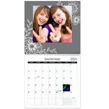 Personalized Floral Farm, 12X12 Wall Calendar