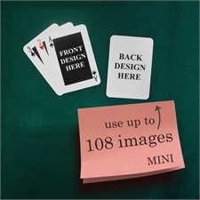 Mini Size Playing Cards Classic Custom 2 Sides