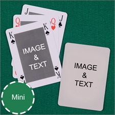 Mini Size Playing Cards Classic Bridge Style Custom 2 Sides