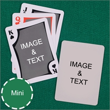 Mini Size Playing Cards Modern Custom 2 Sides