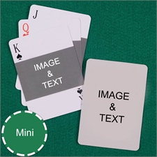 Mini Size Playing Cards Landscape Photo Custom 2 Sides