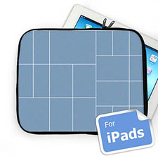 Facebook Twenty Collage Ipad Sleeve, White