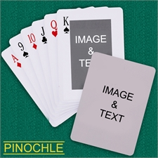Personalized Classic Custom 2 Side Pinochle Playing Cards