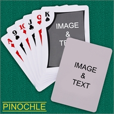 Personalized Modern Custom 2 Side Pinochle Playing Cards