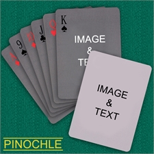Personalized Simple Custom 2 Sides Pinochle Playing Cards