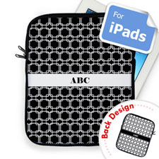 Custom Front And Back Black Links Ipad Sleeve