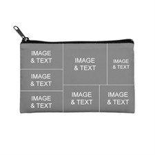Seven Collage Medium (2 Side Same Image) Makeup Bag (5 X 8 Inch)