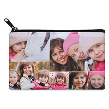 Instagram Six Collage Medium (2 Side Same Image) Makeup Bag (5 X 8 Inch)
