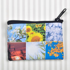 Instagram Six Collage Coin Purse (Print 2-Sides - Same Image)