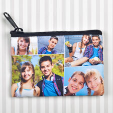 Personalized Five Collage Coin Purse (Same Image)