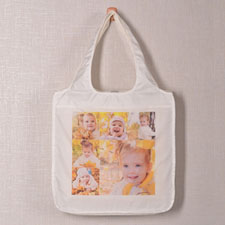 Six Square Collage Folded Shopper Bag