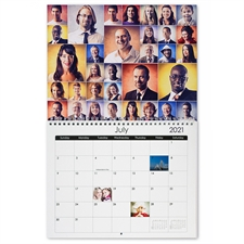 "Instagram Thirty-Three Collage 8.5""x11"" Wall Calendar"