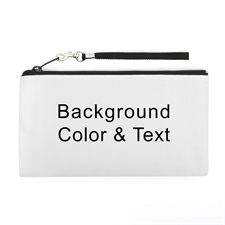 Personalized Background Color & Text 5.5X10 (2 Side Same Image) Clutch Bag