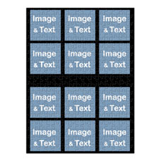 Instagram Twelve Collage Large Portrait Puzzle
