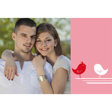 Bird And Heart Personalized Animated Invitation Card (4 X 6)