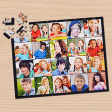 Instagram Black Twenty Collage Puzzle