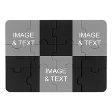 Instagram Three Collage Black Puzzle Invitation