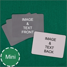 Mini Size Playing Cards Landscape Custom Cards