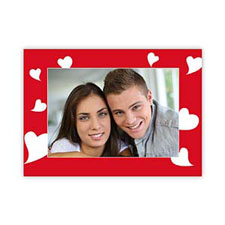 Many Hearts Personalized Photo Valentine Card, 5X7 Flat