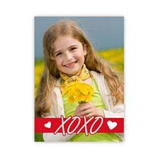 Xo Hearts Personalized Photo Valentine Card, 5X7 Flat