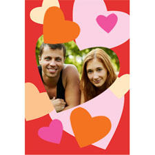 Frame Of Hearts Personalized Animated Invitation Card (4 X 6)