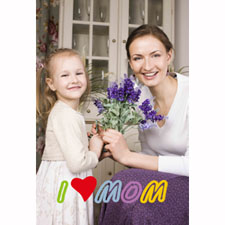 Mother's Day Customize Animated Photo Card Personalized Animated Invitation Card (4 X 6)