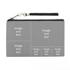 Personalized Facebook 6 Collage (2 Side Same Image) Wristlet Bag (5x8)